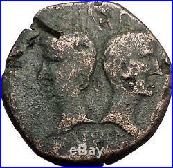 AUGUSTUS & AGRIPPA 10AD Nemasus Gaul CROCODILE Ancient Roman Coin i57402