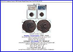AUGUSTUS Authentic Ancient 15BC Genuine Original Roman Rome Coin SC NGC i81759