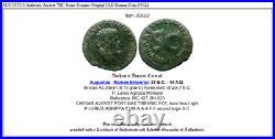 AUGUSTUS Authentic Ancient 7BC Rome Genuine Original OLD Roman Coin i83022