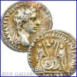 AUGUSTUS / Gaius, Lucius Caesars 2 BC Ancient Roman Empire Silver Denarius Coin