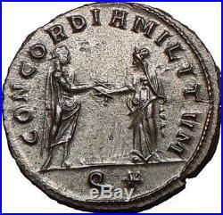 AURELIAN 270AD Silvered Rare Ancient Roman Coin Marital harmony i26836