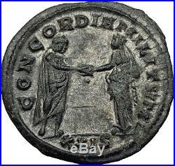 AURELIAN 274AD Rome Authentic Genuine Ancient Roman Coin Marital harmony i59021