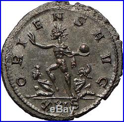 AURELIAN 274AD Silvered Ancient Roman Coin Nude SOL SUN God w globe i26743