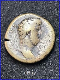 Aelius Caesar AE Sestertius. Rome Mint. Ancient Roman Imperial Coin