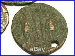 Ancient Auth. 3 Rare$ Roman Coins 307- 361 Ad. Jupiter, Victory Cap & 2 Legion