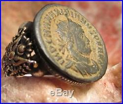 Ancient Authentic Roman Coin Men's Ring