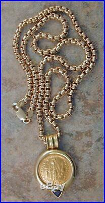 Ancient Byzantine/Roman Gold Coin Necklace, COA from David Sear, free ship BIN