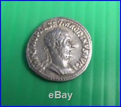 Ancient Coin-Roman-Gordian III Silver Denarius -Salus Feeding Snake Rev 241AD VF