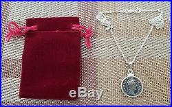 Ancient Denarius Coin of Roman Emperor & Gladiator Commodus 925 Silver Necklace