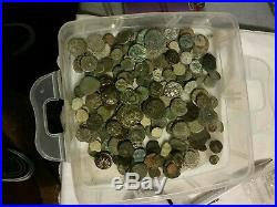 Ancient Greek And Roman Cleaned Uncleaned Culled Coin Lot