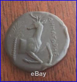 Ancient Greek Roman BC Bee Stag Coin Honey Bee & Stag / Deer Attica or Phencian