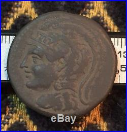 Ancient Greek Roman BC Coin Unknown Owl Athena Owl Coin 12 Gram Bronze Rare AE