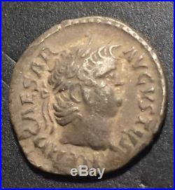 Ancient Greek Roman Coin Lot (a Caesar Augustus Silver Denarius)Bronze Corinthia