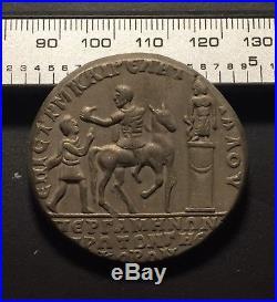 Ancient Italy Roman Coin/Medallion Caracalla 111AD Pergamon Silver Roma Bronze