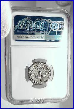 Ancient JEWISH WAR v ROMANS Silver Year 4 Shekel of JERUSALEM Coin NGC i80330
