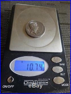 Ancient ROMAN Silver Coin Augustus, AR Cistophoric Tetradrachm, 27-14 AD 10.74 g