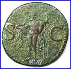 Ancient Roman Agrippa AE As Coin Struck Under Caligula 37-41 AD Good VF