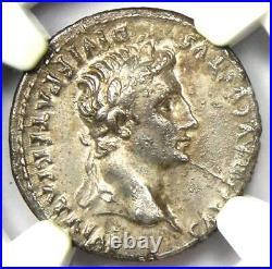 Ancient Roman Augustus AR Denarius Coin 27 BC 14 AD Certified NGC XF (EF)
