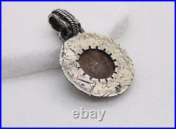 Ancient Roman Bronze Galeere (ship) coin brutalist unisex nautical Necklace