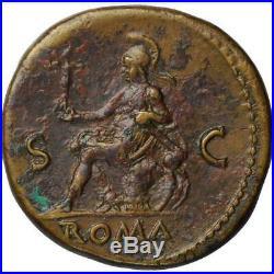 Ancient Roman Bronze Sestertius Emperor Nero, 54-68 Ad. Gorgeous Coin