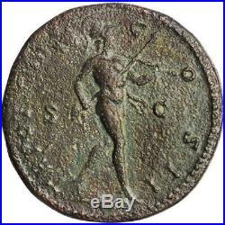 Ancient Roman Bronze Sestertius Marcus Aurelius 139-161 Ad Very Nice Coin