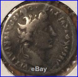 Ancient Roman Coin Caesar Augustus Silver Denarius