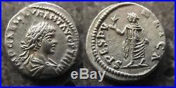 Ancient Roman Coin Caracalla, Spes Scarce Silver Denarius 198-217ad Mint R