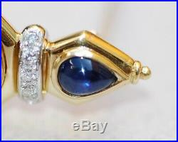 Ancient Roman Coin Diamonds Sapphires Pin Brooch Large 18kt Gold In Bvlgari Box