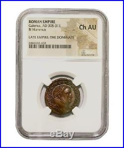 Ancient Roman Coin, Emperor Galerius, NGC (Ch AU)
