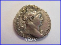 Ancient Roman Coin, Emperor Trajan AD 98-117, great details
