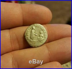 Ancient Roman Coin Hadrian Travel Series Galliae Silver Denarius RESTITVTORI