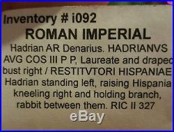 Ancient Roman Coin Hadrian Travel Series Hispania AR Silver Denarius RESTITVTORI