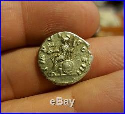 Ancient Roman Coin Marcus Aurelius AR Denarius 161-180 AD. Really Sharp