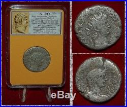 Ancient Roman Coin NERO Silver Tetradrachm Alexandria, Egypt Bust of Nero