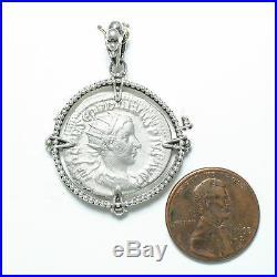 Ancient Roman Coin Pendant, Sterling Silver, Steven Battelle