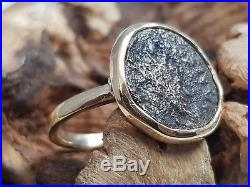 Ancient Roman Coin Ring Solid 9K 9ct YELLOW Gold One Of A Kind