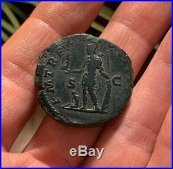 Ancient Roman Coin Sestertius CARACALLA 212AD MARS CAPTIVE RIC490 20.2g