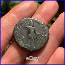 Ancient Roman Coin Sestertius MARCUS AURELIUS 164AD MARS SHIELD RIC861 22.2g