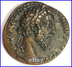 Ancient Roman Commodus AE Sestertius Coin 177-192 AD Choice VF Rare Coin