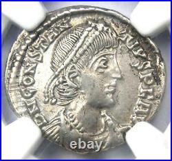 Ancient Roman Constantius II AR Siliqua Rome Coin 337-361 AD NGC Choice XF