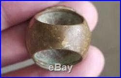 Ancient Roman Empire Bronze Imperial Coin Reverse Big and Heavy Ring Sz 6