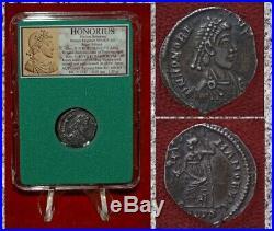 Ancient Roman Empire Coin HONORIUS Roma Rare Silver Siliqua