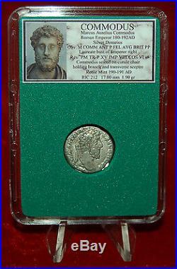 Ancient Roman Empire Coin Of COMMODUS Emperor On Reverse Silver Denarius