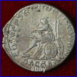 Ancient Roman Empire Coin TRAJAN Silver Denarius Mourning Captured DACIA Reverse