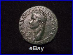 Ancient Roman Empire (Gaius'Caligula') Bronze AE As coin AD 37 41 VF