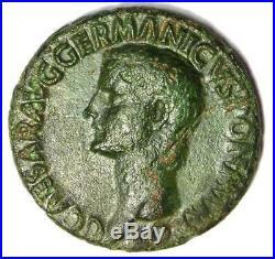 Ancient Roman Gaius Caligula AE As Coin 37-41 AD VF / XF Condition