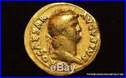 Ancient Roman Gold Coin Nero Gold Aureus 54-68 A. D. Scarce Coin