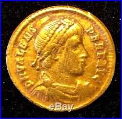 Ancient Roman Gold Coin, Valens 364 378 A. D. Antioch Mint Very Nice Coin