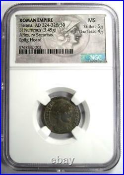 Ancient Roman Helena BI Nummus AE3 Coin (324-328 AD) Certified NGC MS (UNC)