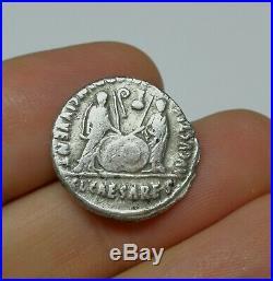Ancient Roman Imperial Augustus Silver Denar Coin 27 BC 14 AD